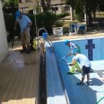 Desinfeccion y limpieza de la piscina
